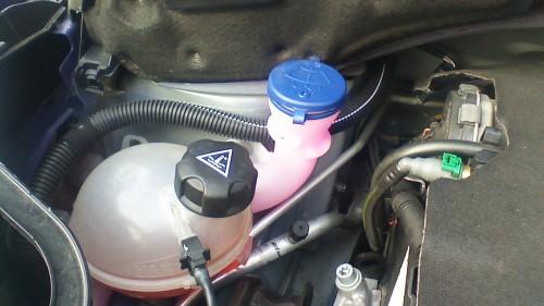 Coolant & Windscreen wash bottle